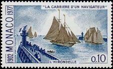 "MONACO N° 1084 ""ALBERT 1er NAVIGATEUR, HIRONDELLE, 10 C""NEUF xxTTB"