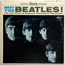 MEET The BEATLES Capitol ST 2047 Rare GREEN GRAY Grey STEREO Cover VG++ ST-2047