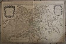 RUSSIA RUSSIAN EMPIRE 1674 SANSON & JAILLOT WALL TWO SHEETS ANTIQUE ORIGINAL MAP