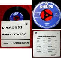 Single Blizzards: Diamonds / Happy Cowboy (Philips 345 573 PF) D