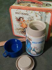 Holly Hobbie [Metal Lunchbox w/ Thermos] Vtg._Ltd. (Aladdin) Red/Blue_Free Ship.