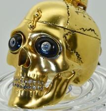 MUSEUM 18k Gild&Diamonds Skull Memento Mori Occultist's Verge Fusee pocket watch