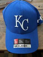 Kansas City Royals Under Armour MLB Driver Cap Adjustable Hat - Royal/Gray