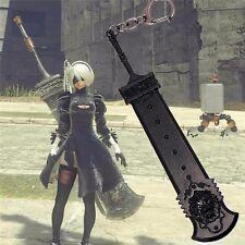 NieR:Automata YoRHa No 2 Type B 2B Sword Metal Pendant Keychain Keyring Gift