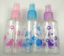 Empty Plastic Perfume Transparent Atomizer Spray Bottle Mini Small  3x 75ML