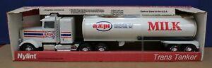 "Vtg Nylint 315 Freightliner Semi tanker AMPI Milk Pressed Steel 25"" New in Box"