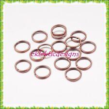 10mm 50pcs Antique Copper Bronze Jump Rings Jewelry Findings Open Split Earrings
