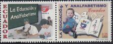 Upaep Ecuador 1694/95 2002 Alumnos en clase Niño con libros MNH