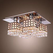 Elegant Modern 4 lights Crystal Ceiling Chandelier Pendant Fixture Lighting Lamp