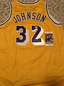 Magic Johnson Signed Custom Los Angeles Jersey! JSA Certified