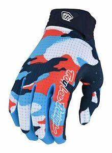 2022 Troy Lee Designs GP Air Formula Adult Motocross Gloves Camo Orange/Navy
