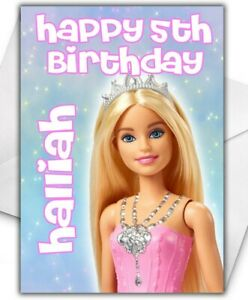 BARBIE PRINCESS Personalised Birthday Card - Large A5 - Barbie Princess - D3