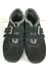 Easy Spirit Women Size 7 Narrow Ivanbellas Black Suede Leather Faux Fur Shoes