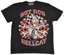 DTO. -20% ! Camiseta chico Men T-shirt 'PIN UP WHEELS' -HOTROD HELLCAT- rockabil