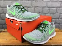 NIKE LADIES UK 6.5 EU 40.5 FREE 5.0 WOLF GREY VOLT GREEN RUNNING TRAINERS £75 C