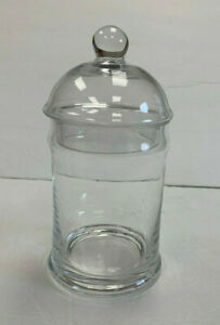 Pottery Barn Classic Glass Bathroom Canister Small