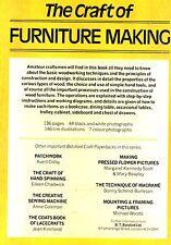 The Craft of Furniture Making, David Johnston, Batsford craft paperback