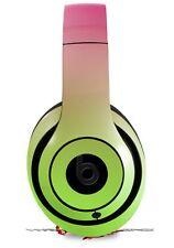 Skin for Beats Studio 2 3 Smooth Fades Neon Green Hot Pink HEADPHONES NOT INCLU