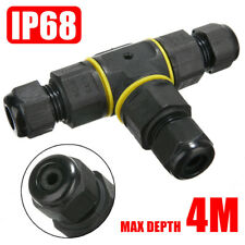 Waterproof Cable Wire Connector Plug 3 Way T Shape Electrical Outdoor IP68 CAO