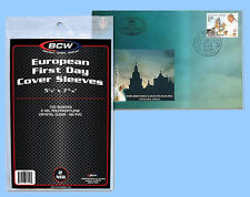 BCW: Polypro Sleeves: EUROPEAN 1ST DAY COVER: 5,000: 50 Packs (100 pk) CASE-LOT
