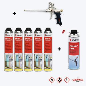 SET Pistolenschaum 5x 750 ml + 1 Metall schaumpistole + 1 Reiniger Montageschaum