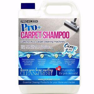 Pro-Kleen Pro+ Ocean Carpet Shampoo Rug Cleaner Eliminates Smells Concentrated
