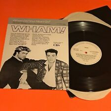 """WHAM  Where did your heart go? Brazil 12"""" Promo Only White Label Insert  RARE"""