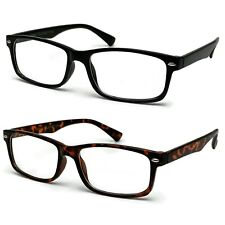 New Clear Lens Fake Glasses Rectangular Frame Nerd Geek Fashion Eyewear UV 100%