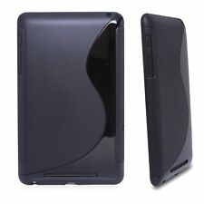 TPU Gel S-Shaped Case for Google Nexus 7 - Black