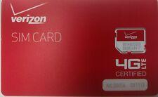 BRAND NEW Verizon Wireless 4G LTE MICRO SIM Card 3FF