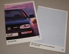 Auto Prospekt VW Golf 3 VR6 Typ 1H + technische Daten und Ausstattungen 07/1995!
