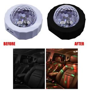 Car Interior Color Gradient Decorative Light LED Atmosphere Ambient Star Lamp