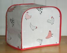 Red Edged Patterned Chickens Vinyl Cover for KENWOOD PROSPERO Food Mixers