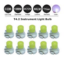 10X T4.2 10mm 1SMD LED Car Instrument Plate Dashboard Gauge Light Lamp 12V White