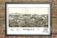 Old Map of Winona, MN from 1867 - Vintage Minnesota Art, Historic Decor