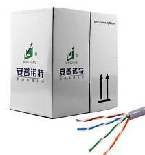 CAT5E UTP CABLE 1000FT BULK SOLID WIRE ETHERNET LAN NETWORK CAT5 GRAY RJ45 BOX T
