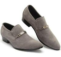 Fashion Casual Mens Buckle Slip on Faux Suede Oxford Dress Loafers Formal Shoes