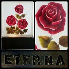 MCM Lucite Roses Lamp Night Light Flowers 40's 50's Eterna Mid-Century