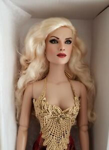 """Tonner SashaBleu OOAK Repaint 16"""" Blonde Fashion Doll with Dress & Stand"""