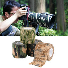 4.5M *5CM Military 1 Roll Stretch Bandage Camping Hunting Camouflage Tape Camo♡