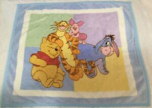 Winnie the Pooh Tigger Eeyore Piglet Soft Fleece Baby Blanket Disney Vintage