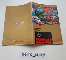 Super Nintendo SNES Street Fighter II Notice / Instruction Manual