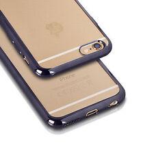 & Silikonhülle Transparent Handytasche BUMPER CLEAR Case Etui Alcatel U5 4G GRAU