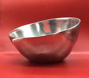 Nambe #649 large metal bowl mid century modern retro modern art sculptural