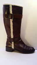 WOMEN'S BANANA REPUBLIC KNEE HIGH BOOTS BROWN LEATHER 9.5 M