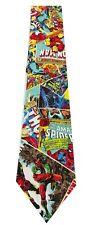 Marvel Comic Vintage Crackle Weathered Super Hero Men's Necktie New