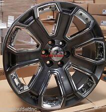 "22"" GMC Yukon Denali Style Wheels Hyper Black Rims Sierra Tahoe Suburban LTZ 24"
