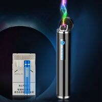 Mini Dual Arc Lighter USB Rechargeable Windproof Electric X Plasma Lighter Gift
