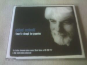 MICHAEL MCDONALD - I HEARD IT THROUGH THE GRAPVINE - 3 TRACK PROMO CD SINGLE