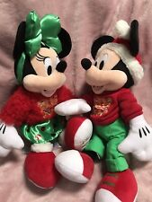 More details for official genuine disney store mickey and minnie mouse bnwt plush 2020 christmas